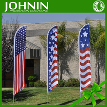 Popular Promotion Knitted Polyester Outdoor Beach Feather Flag