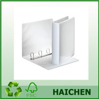 25mm A4 Presentation 4 D-Ring Binder in White