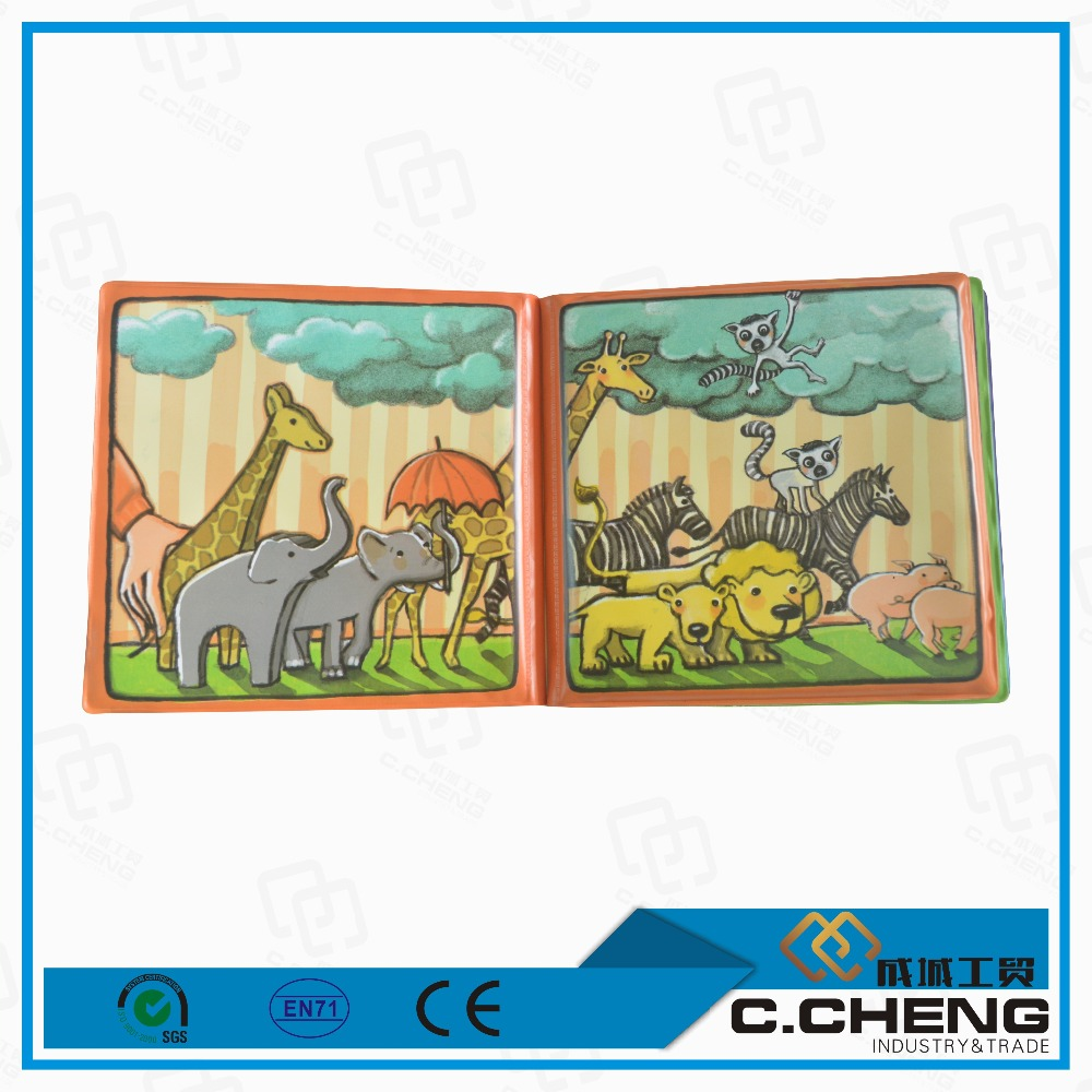personalized designs 4 sheets inside educational eva eco-friendly kids toys/bath books