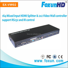 Foxun SX-VW02 multi-level cascading to creat Max 10x10 Video wall hdmi Support 2X2 and 3x3 video wall controller