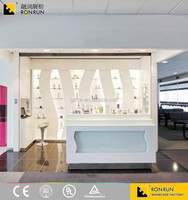 RCF1034 cosmetic store wall display showcase furniture
