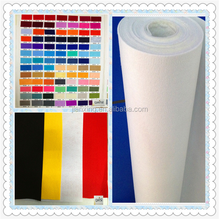 colorful 100gsm--500gsm nonwoven polyester felt for garment interlining Trade Assurance supplier