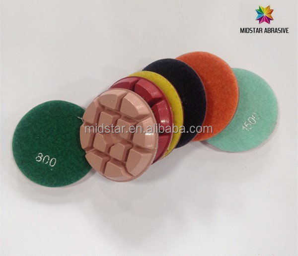 "3"" polishing pad for concrete terrazzo marble granite 11mm thickness"