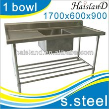 commerical sink/stainless steel kitchen sink with one middle bowl