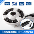 180/360 Degree Wide Angle NightVision 4MP Fisheye Panorama IP Camera With POE Port