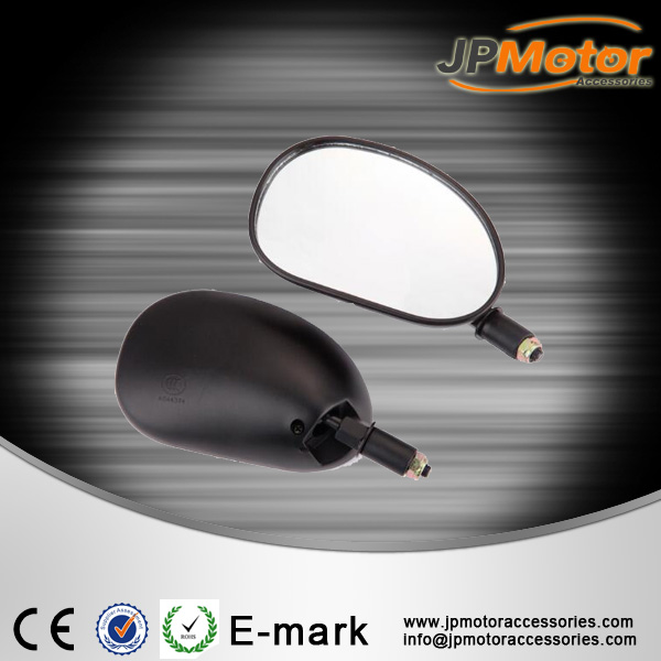 Good quality motocycle parts, black PP housing material rearview mirror