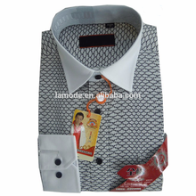 Hot sale contrast club collar pattern latest shirt designs for men