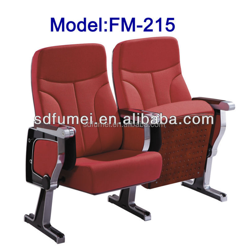 FM-215 Luxury modern school chair auditorium fabric cover