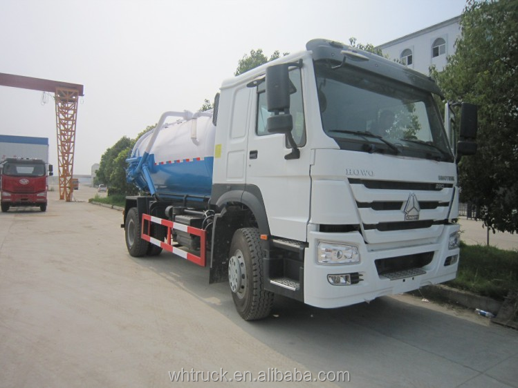 Howo 4x2 high quality waste dispose Vacuum Cleaner Truck for factory price