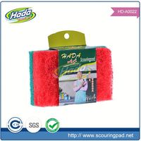 Wholesale non scratch green scouring pads cloth