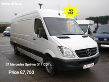 MERCEDES BENZ SPRINTER 311 CDI LWB closed box minibus for sale