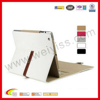 for new ipad,white Pu leather case for apple the new ipad 2&3&4,new for ipad mini touch