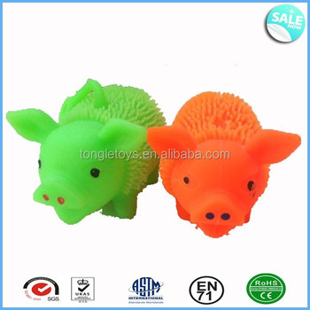 LED light up animal puffer ball toy