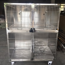 Pet cages double dog run kennel with wheels