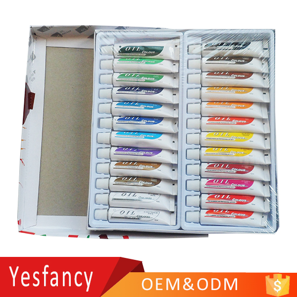 hot selling 12ml tube oil colour paint fast dry artist oil paint set 24 with ASTM EN71 certificate