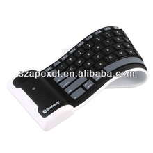 Flexible wireless bluetooth mini keyboard rubber bluetooth keyboard for sll tablet