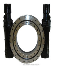 We sell dual axis worm gear slewing drive and slewing bearing