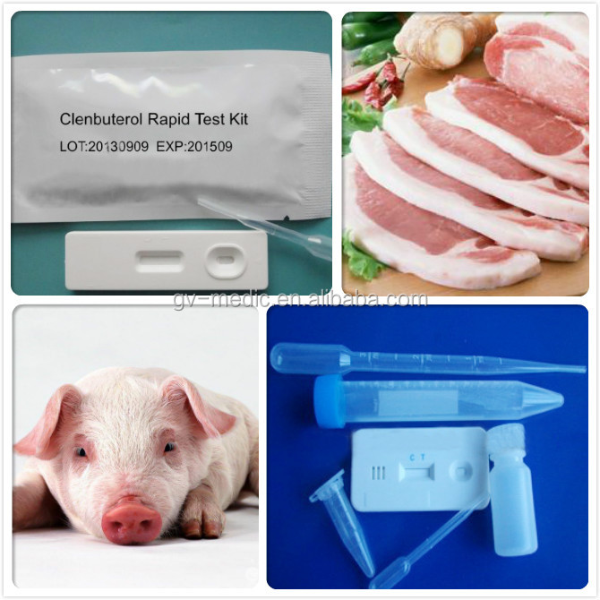 Hotsale!Rapid diagnostic Clenbuterol(CLEN) test kits/One step CLEN vitro test cassette/Disposable CLEN test device made in China