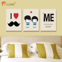 2015 Hot Home Decoration Item Modern Painting 3 Piece Canvas Wall Art