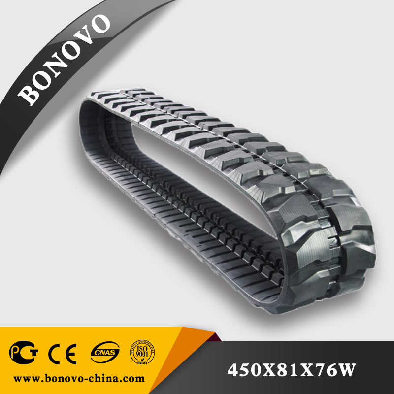 Snow blower rubber crawler track made from natural for sale