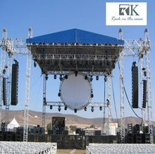 6 pillars / 6 leg tower truss for stage, system wtih roof trusses
