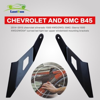 "Chevrolet & GMC 54"" Curved LED Light Bar Roof Mount Bracket 2014-2015 B45"