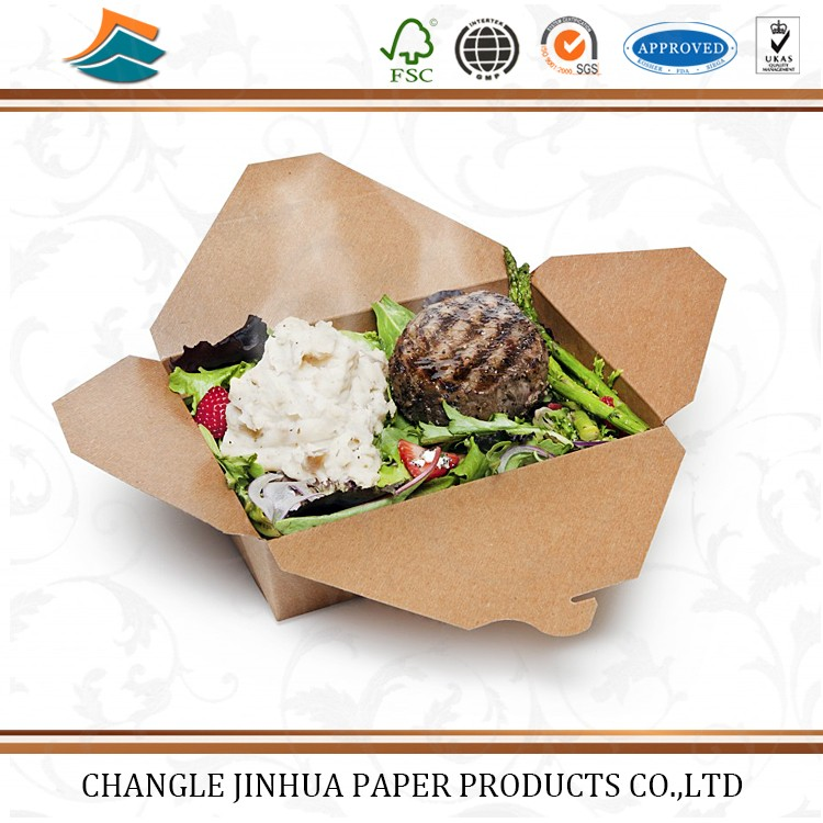 High quality paper take out lunch boxes for fast food
