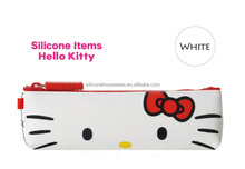 Sanrio license hello kitty silicone pouch bag,silicone comestic bag,silicone handbags, wonder wallet