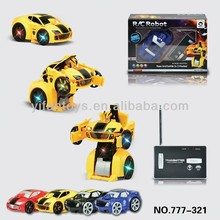2014 New Toys 777-321 2CH Wireless Can Be Out Of Robot Shape RC Robot Car Toys for sale
