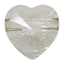 Crystallized Other Shape Large Silver Heart Beads 410902