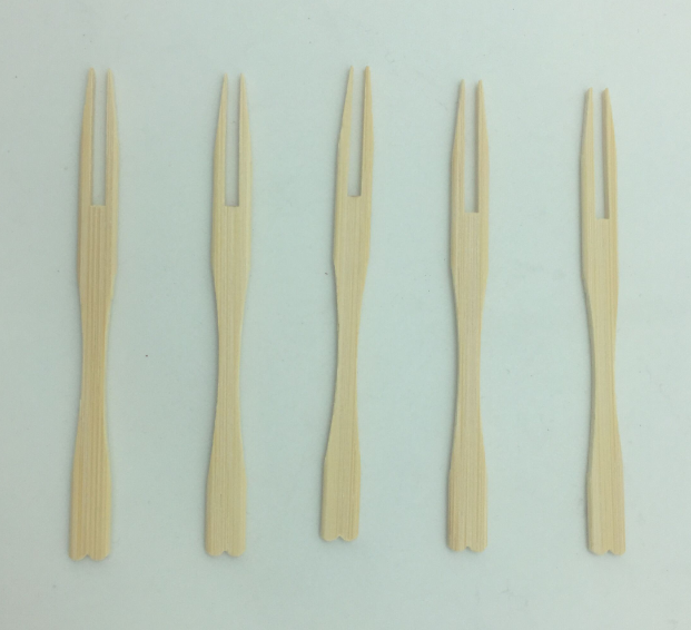 9cm bamboo fruit fork for sale