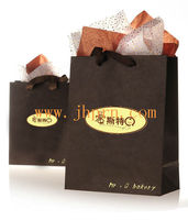 brown paper bags with ribbon handles for gift