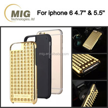 Fashional rivet design cell phone case for iphone 6s, hot sell mobile phone cover case for iphone 6 6plus and for iphone 6s plus