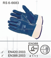 RS SAFETY nitrile dipped jersey cotton 130g heavy duty oil industry superior cotton work gloves