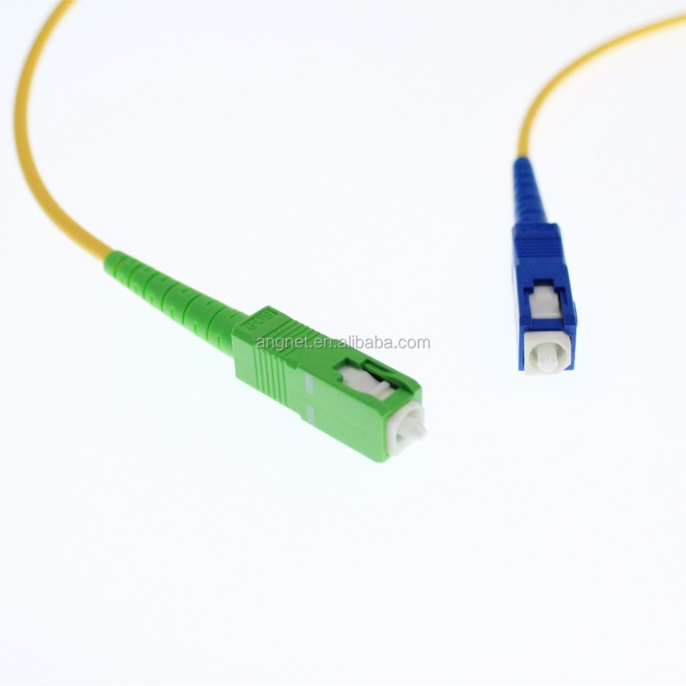 Telecom level indoor SC-SC SM fiber optical patch cable In Data Communication Network