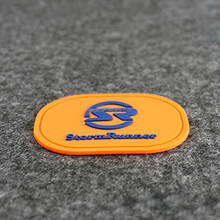 Wholesale garment accessories cheap custom pvc logo military patch