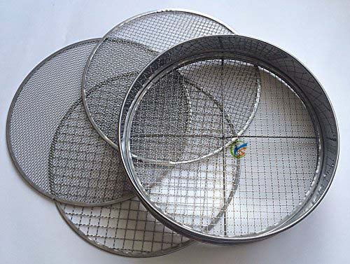 4 Interchangeable Mesh Sizes Steel Garden Potting Sieve / Riddle