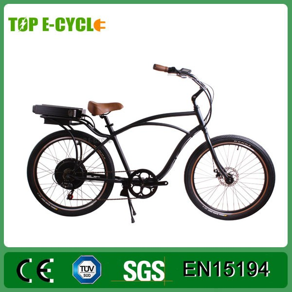 Top E-cycle Powered China CE Approval Electric Beach Cruiser Motor Bike