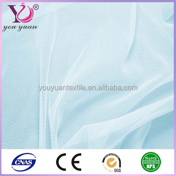 Nylon spandex stretch mesh fabric for swimsuit lining