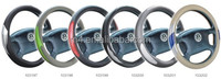 38cm Reflective PVC leather car steering wheel cover