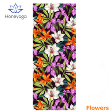 customiziable 2in1 combo tree rubber fusion towel yoga mat with carry strap