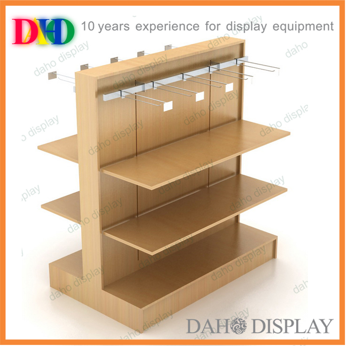 wooden rack for retail sore fixture