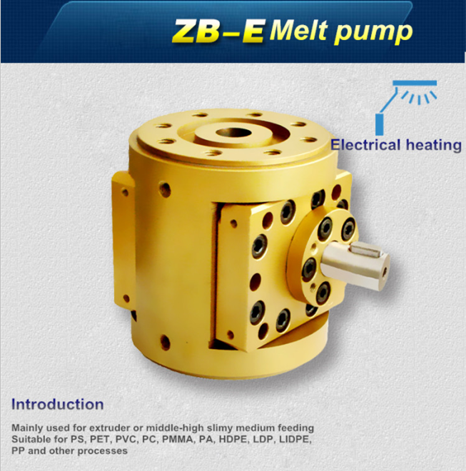 Polymer melt gear pump for extruder