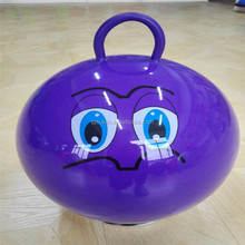 PVC inflatable plastic 48cm 380g hopper ball with round handle toy ball jumping ball