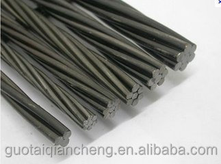 Railway project used 1*7 wires prestressed concrete steel pc strand