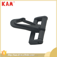 Direct factory wholesale black plastic small snap rope hook