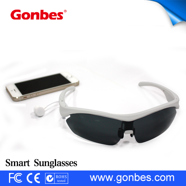 2015 HK Optical Fair Cool Looking Bluetooth Sunglasses MP3 Player Support Smart Phone