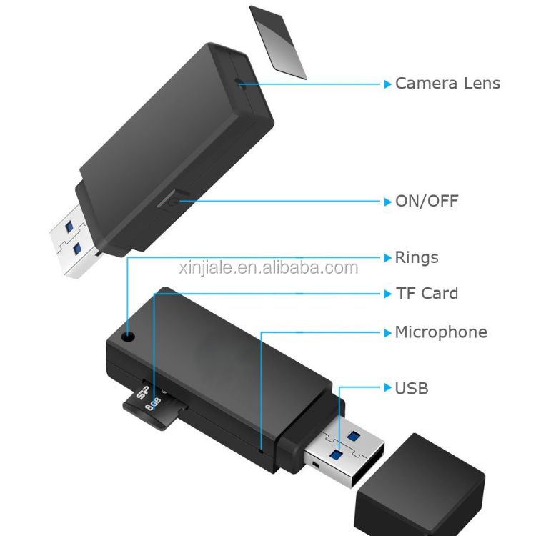 <strong>U</strong> disk miniature camera <strong>1080P</strong> 30fps mini camera hd video recorder mini camera usb