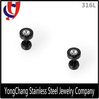 2016 Online shopping stainless steel costume jewelry druzy CZ men stud earrings