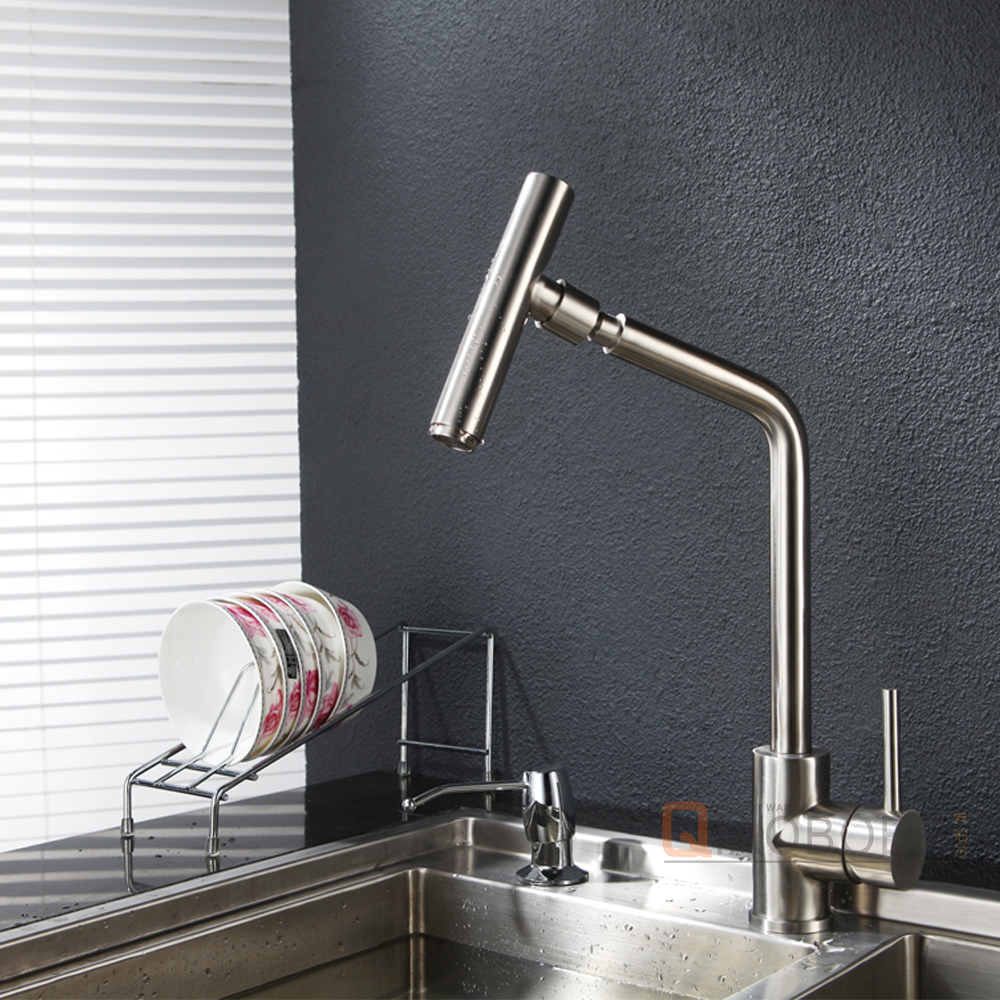Factory Price Single Handle Brass Body Commercial Kitchen Mixer Tap